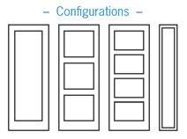 Configuration de porte d'acier Création Verre Sélect