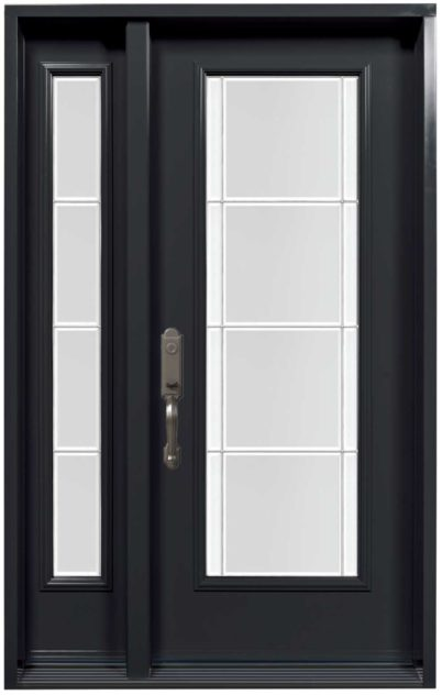 Porte Acier Novatech Opal Noir